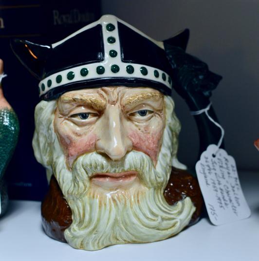 """Royal Doulton """"Viking"""" character jug w/ handle 1959-1975 England"""
