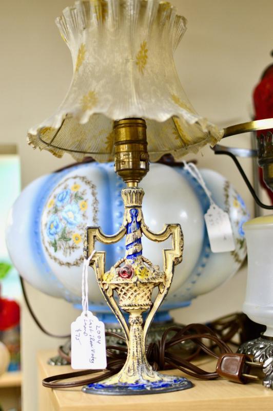 Cast iron vintage lamp