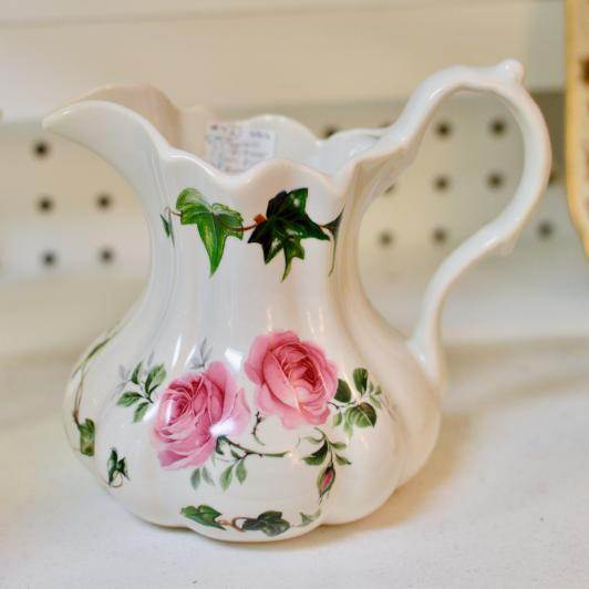 Small pitcher w/ pink roses - England