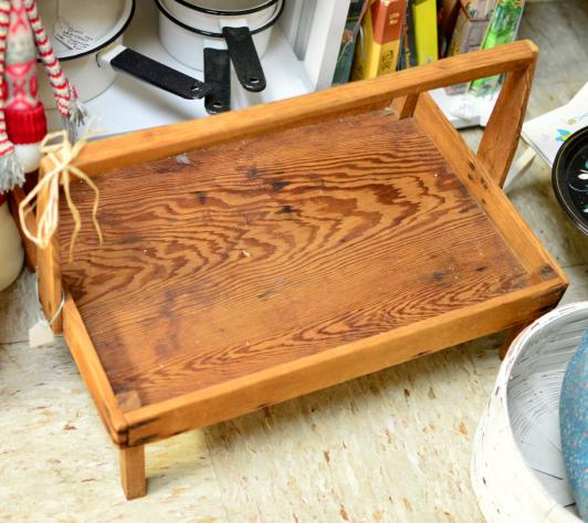 Old strawberry tray