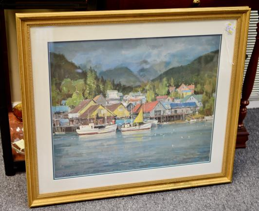 Signed limited edition print. Clyde Aspervig