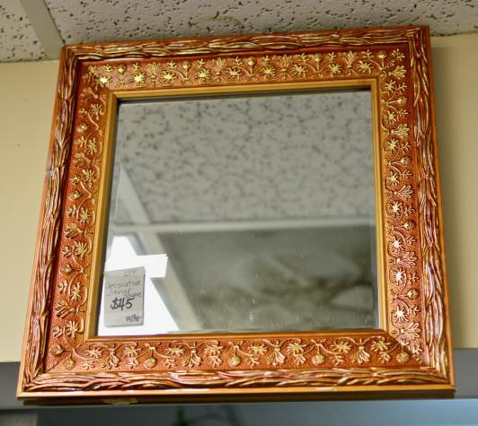 Decorative square mirror