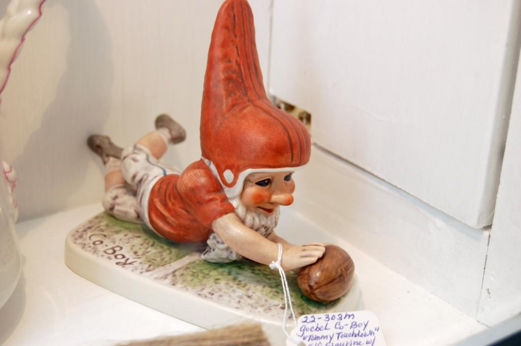 Goebel Co Boy Tommy Touchdown Elf Football Figurine - 1977