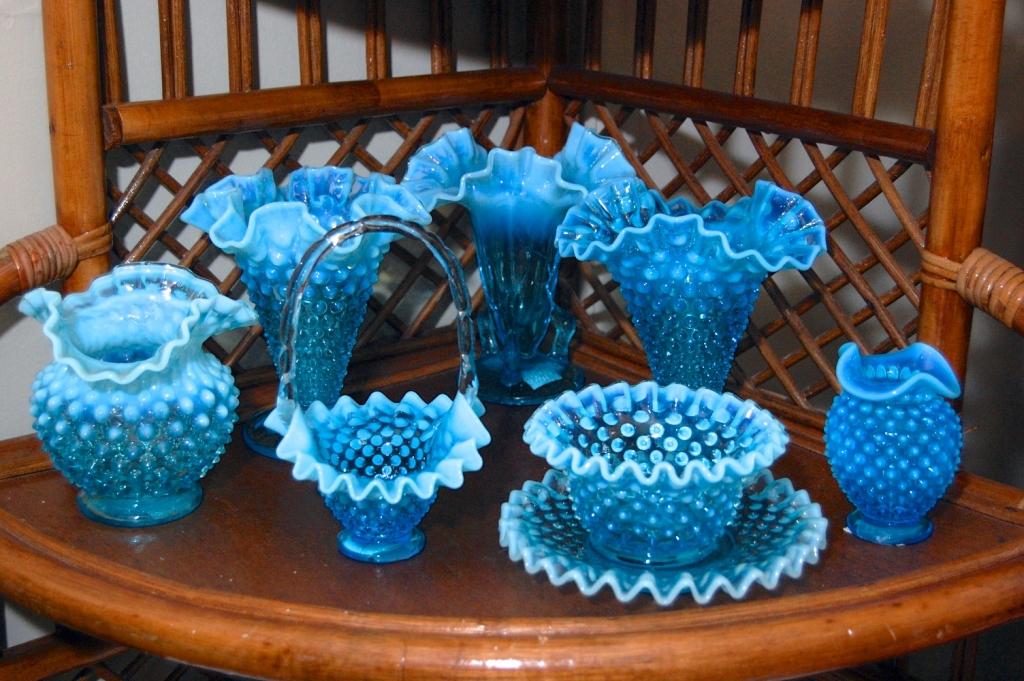 Blue Fenton Art Glass