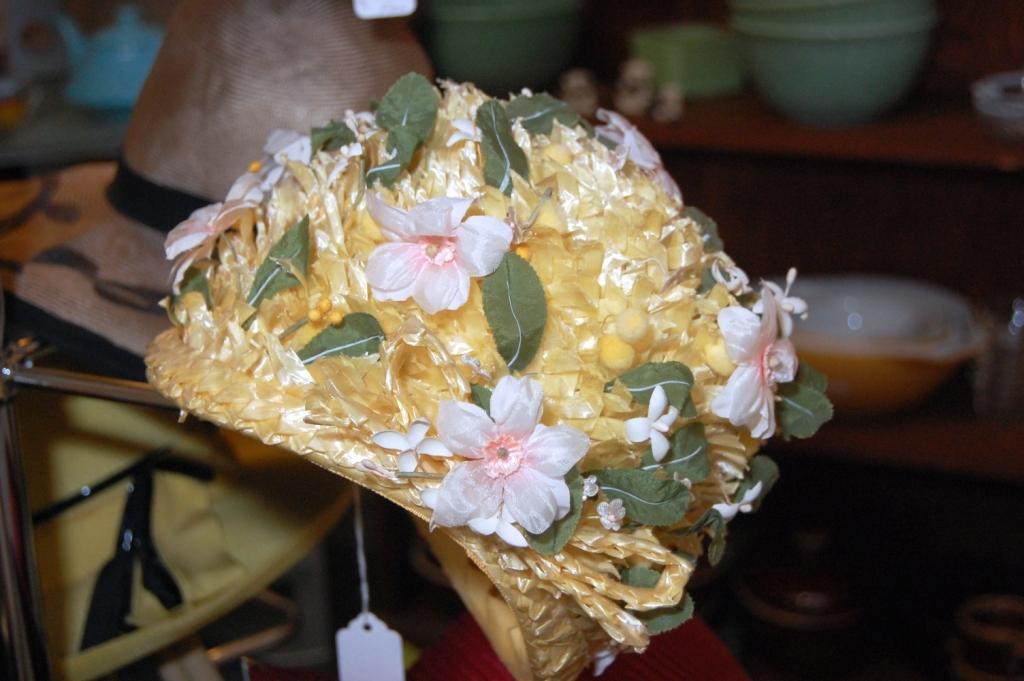 Vintage Floral Basket Hat