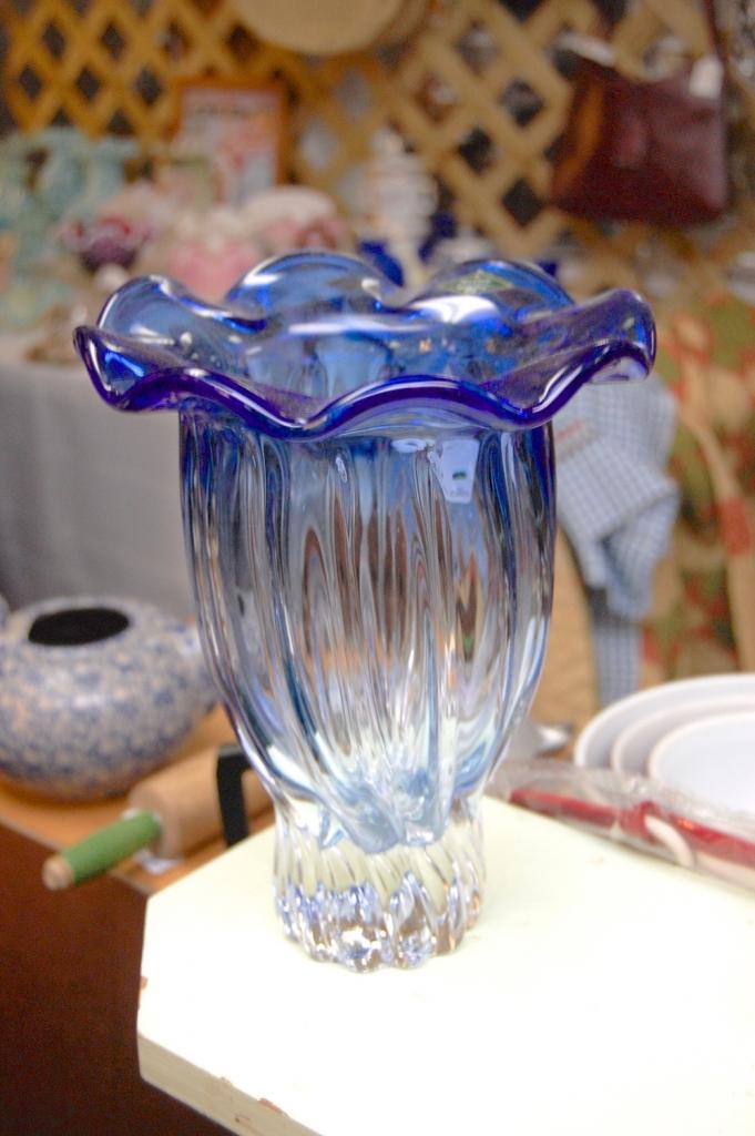 Blue Shannon Crystal Vase
