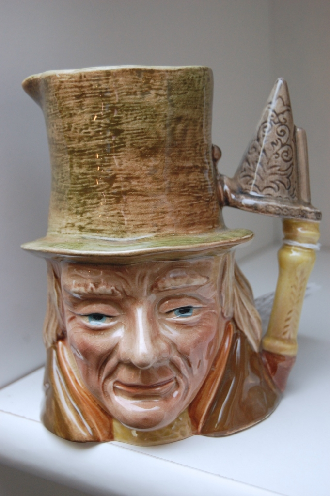 "Beswick Toby Jug ""Little Nell's Grandfather"" from ""The Old Curiosity Shop"" c. 1936-73, England. Medium size."
