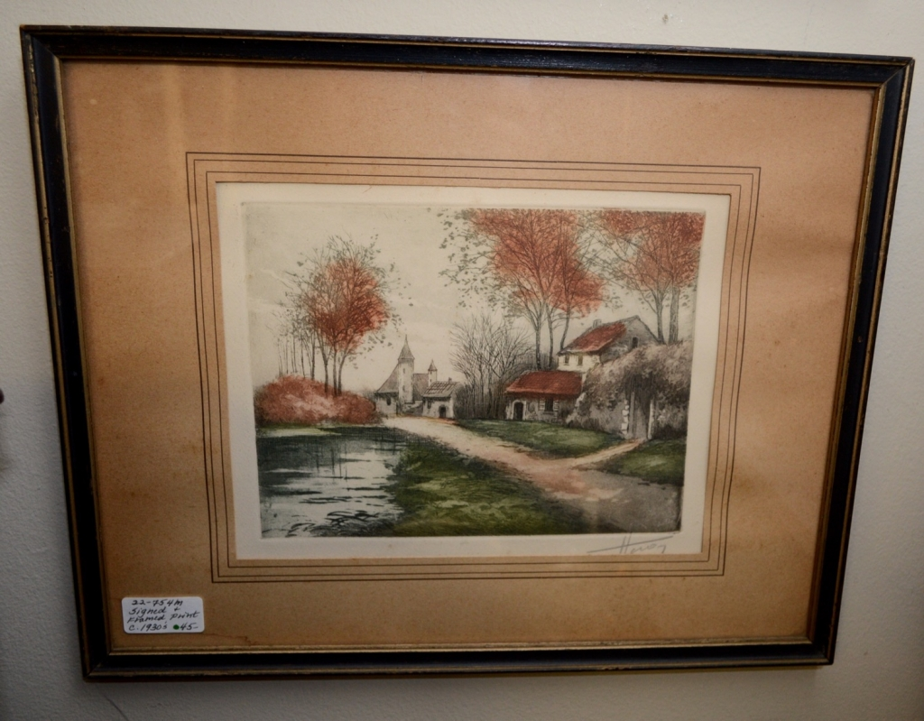 Signed & Framed Print c. 1930's