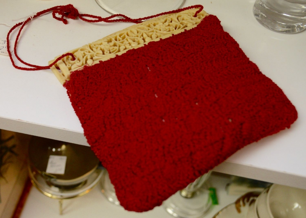 Red Crochet Bag