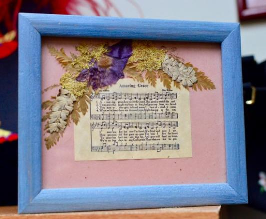 Amazing Grace - in small frame with flowers