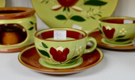 Stangl Pottery Magnolia  Cup and saucer