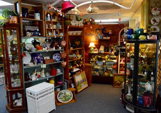 Booth 6: Stoneware,  pottery, old advertising, crocks, tins & much more!