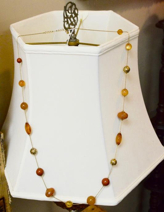 Gold and Amber long necklace