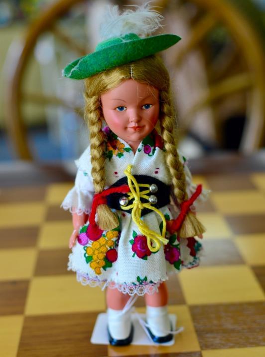 Vintage wind-up German doll