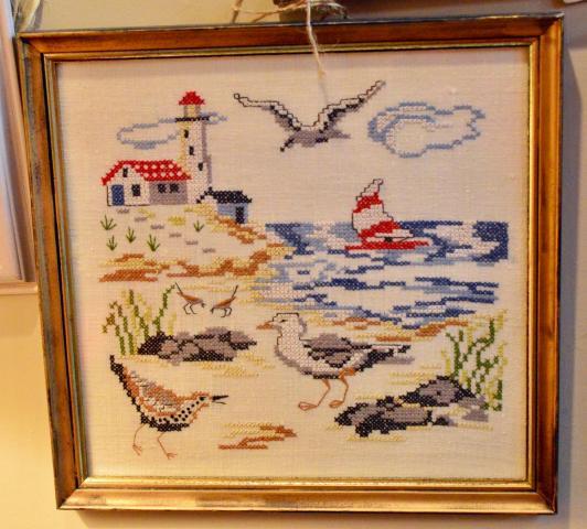 Needlework of coast