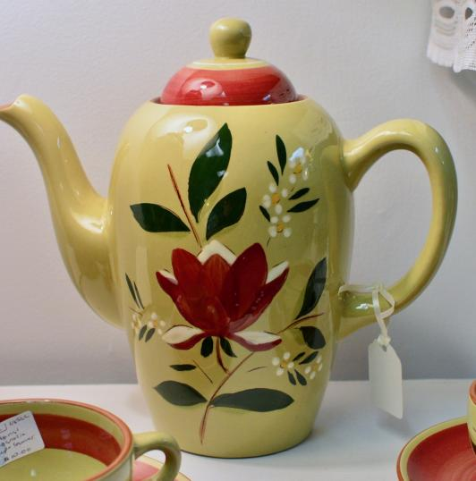 Stangl majolica coffee pot circa 1953