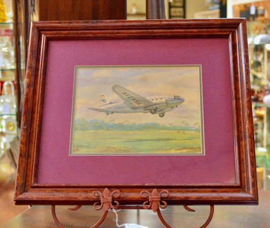Framed print by Dell Villar  of 1958 Fairchild F-27