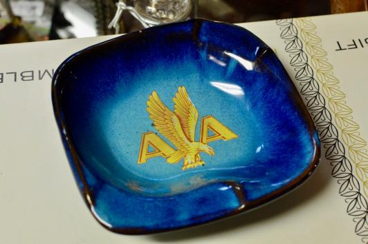 American Airlines ash tray - 1945-62 logo