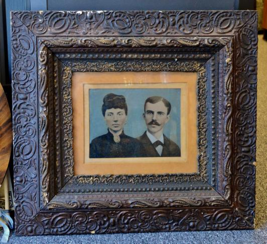 Large tin type in frame