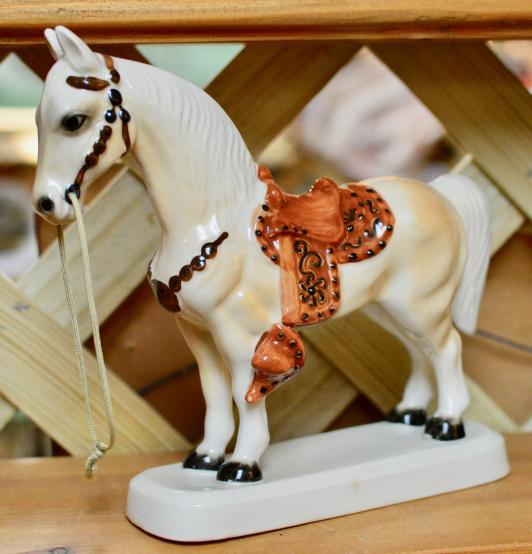 Ceramic horse made in Japan