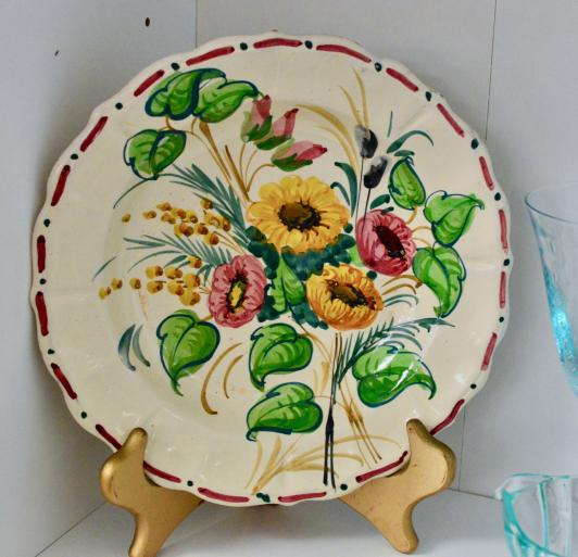 """Hand painted 10"""" plate"""