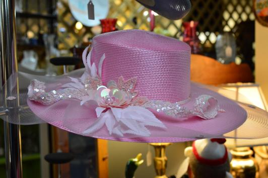 """Jezebel"" pink hat"