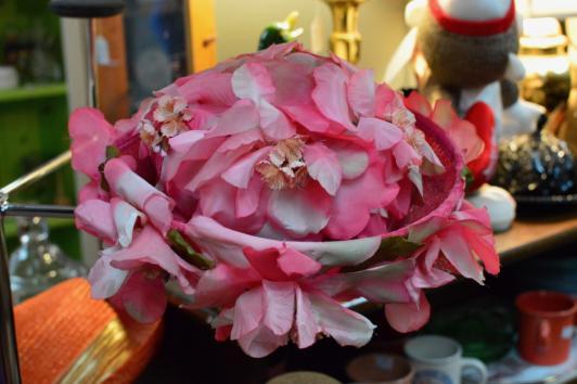 Noreen fashion vintage pink hat
