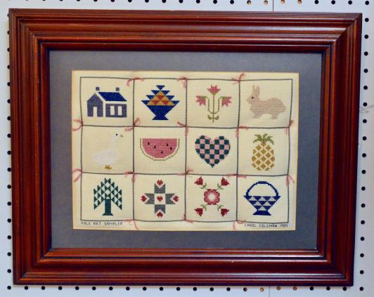 Country cross stitch handmade - 1980s