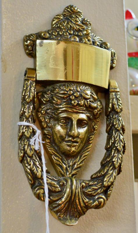 Door knocker - solid brass Greek head
