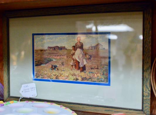 Prairie garden framed print