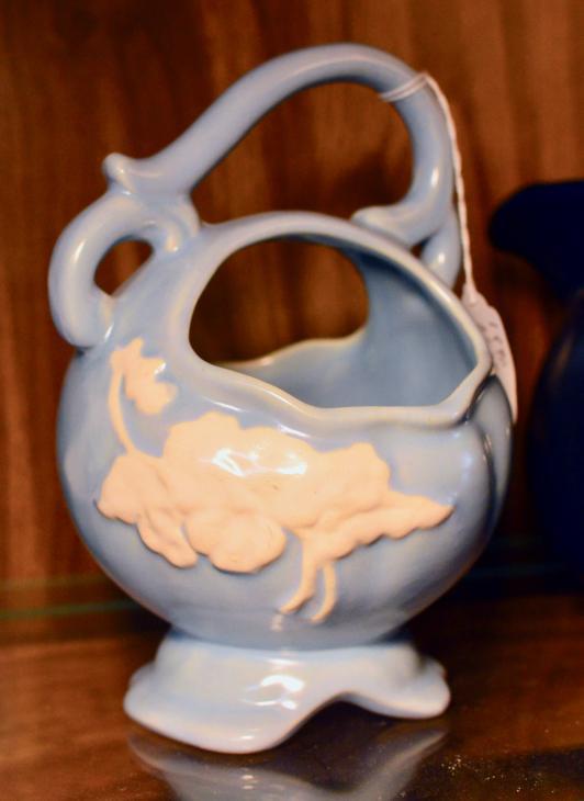 Weller pottery basket bowl