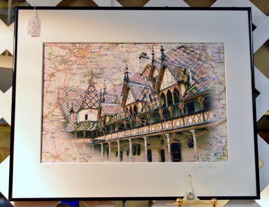 Paris map art - signed - 1/25