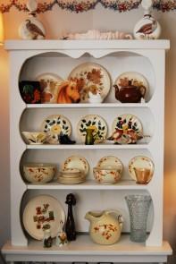 Antique Plates on Shelf